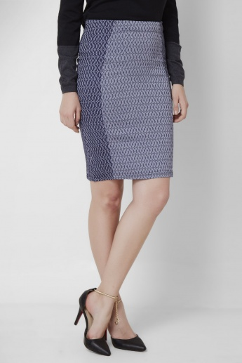 AND Printed Pencil Skirt