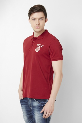UCLA Solid Pique Polo Neck T-Shirt