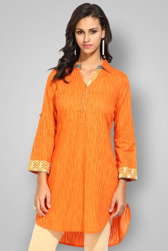 BIBA Collared Full Sleeves Printed Tunic