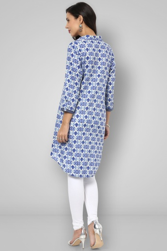 BIBA Collared 3/4th Sleeves Tunic