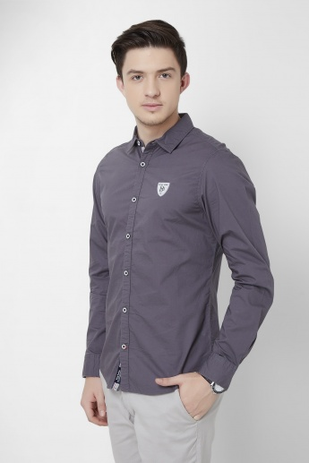 BEING HUMAN Solid Logo Slim Fit Shirt