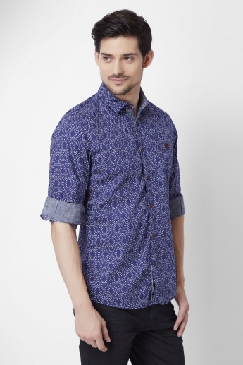 BEING HUMAN Printed Full Sleeves Shirt