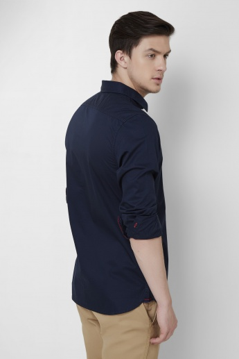 BEING HUMAN Solid Slim Fit Full Sleeves Shirt
