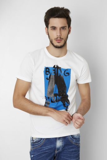 BEING HUMAN Graphic Printed T-Shirt