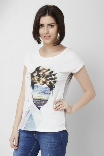 BOSSINI Printed Round Neck T-Shirt