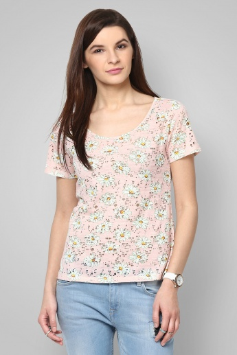 BOSSINI Floral Peek Top