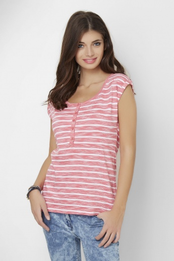 BOSSINI Striped Round Neck T-Shirt