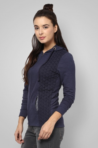 BOSSINI Lace Hooded Sweatshirt