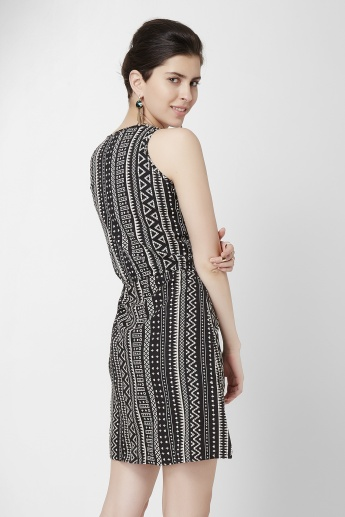 BOSSINI Aztec Printed Sleeveless Shift Dress