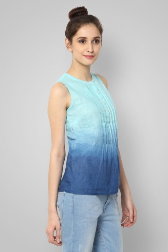 BOSSINI Ombre Pintuck Sleeveless Top