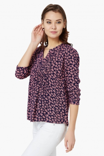 BOSSINI Printed 3/4th Sleeves Blouse