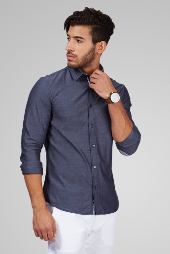 CELIO Textured Full Sleeves Shirt
