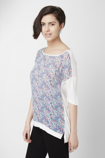 CODE Digital Printed Boat Neck Top