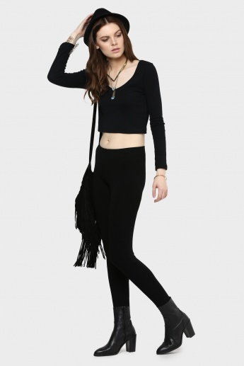 CODE Solid Skinny Leggings
