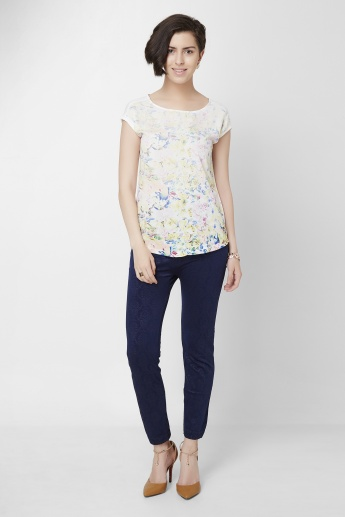 CODE Summer Floral Printed Top