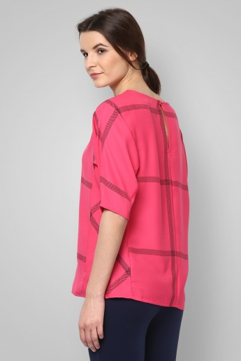 CODE Round Neck Dolman Sleeves Top