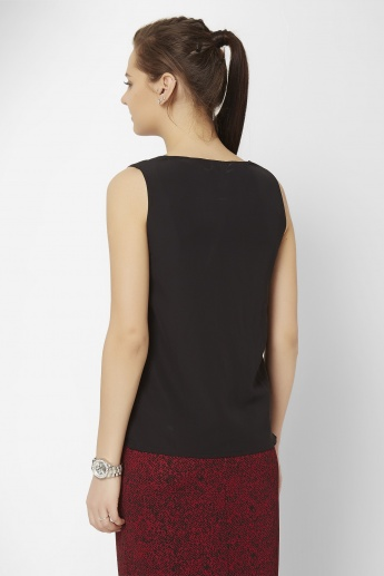 CODE Solid Sleeveless Top