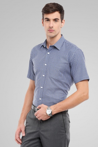 CODE Checks Print Half Sleeves Formal Shirt