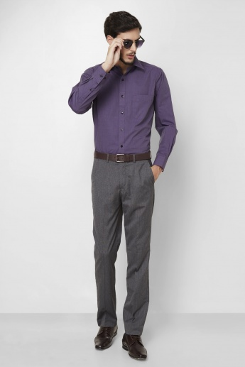 CODE Regular Fit Formal Trousers