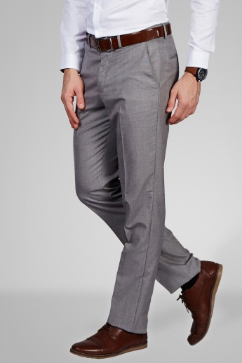 CODE Slim Fit Formal Flat Front Trousers