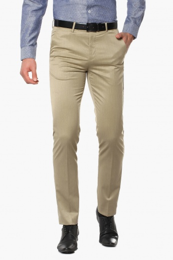 CODE Slim Fit Flat Front Trousers