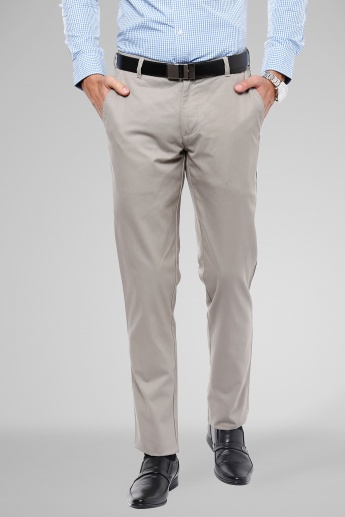 COLORPLUS Flat Front Slim Fit Trousers