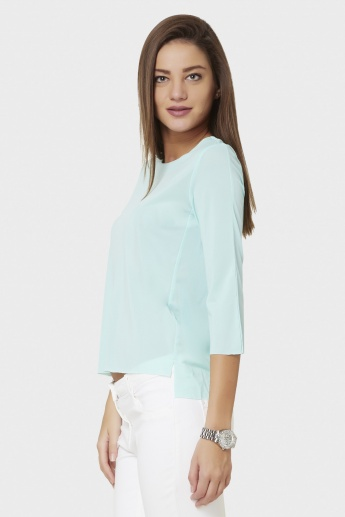 CODE Solid High Low Hem Top