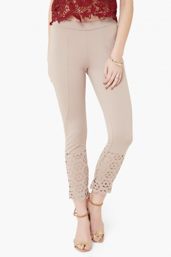 CODE Laser Cut Scalloped Edges Treggings