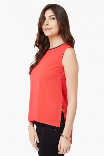 CODE High Low Sleeveless Blouse