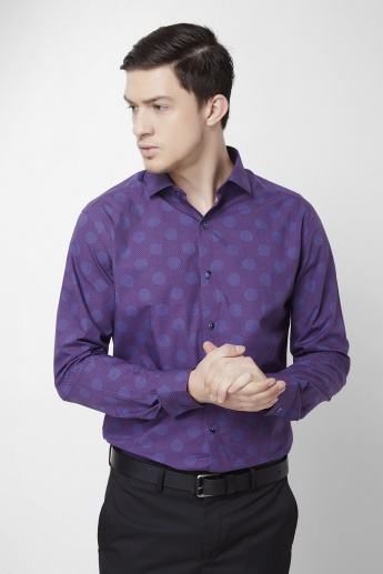 CODE Polka Dot Printed Shirt