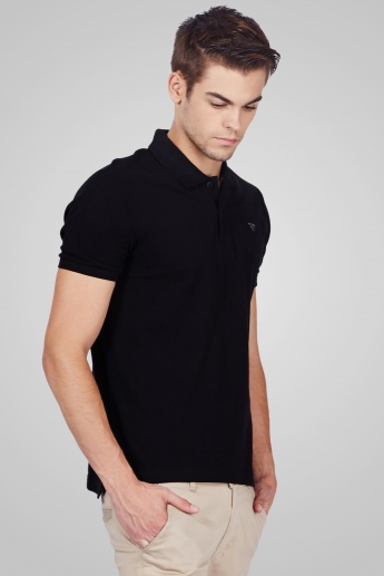 FAME FOREVER Solid Polo T-Shirt