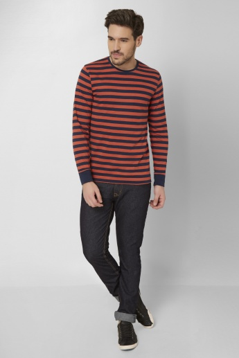 FAME FOREVER Striped Crew Neck T-Shirt