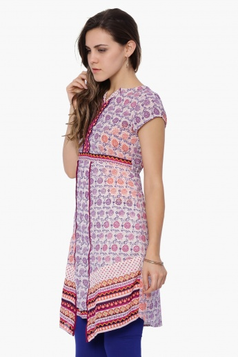 FUSION BEATS Printed Short Sleeves Kurti