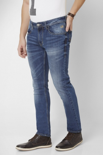 FLYING MACHINE Stone Wash Slim Fit Jeans
