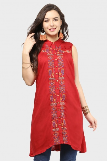 GLOBAL DESI Collared Kurti