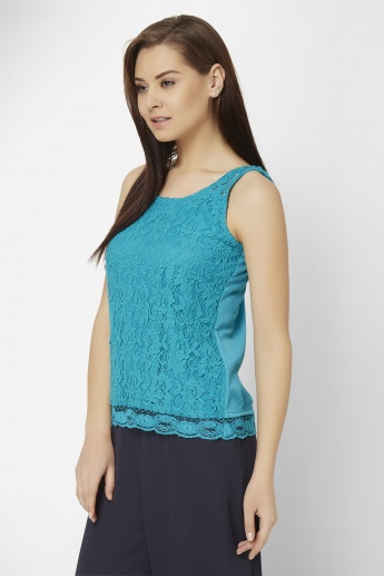 GINGER Lacy Sleeveless Top
