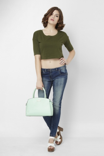 GINGER  Military Crop Top