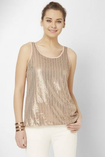 GINGER Sequined Tank Top