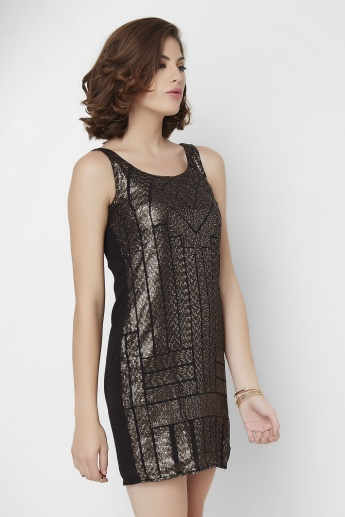 GINGER Zig-Zag Sequined Dress