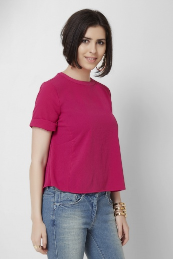 GINGER Round Neck Half Sleeves Top