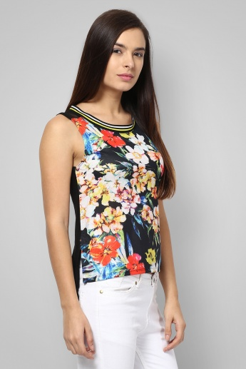GINGER Sporty Floral Sleeveless Top