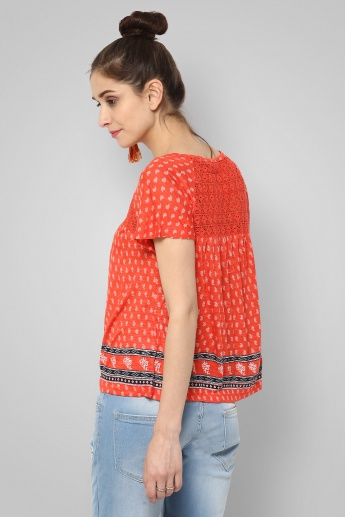 GINGER Printed Fusion Top