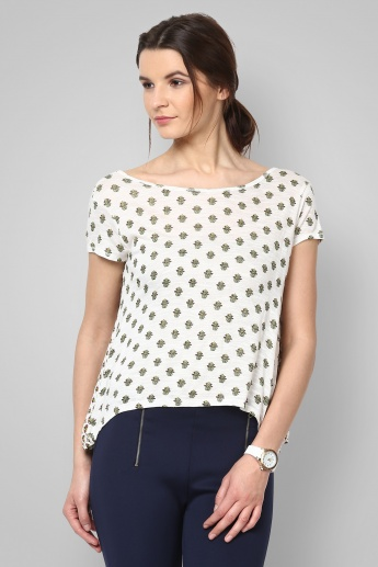 GINGER Basic Sizzle Cutaway Back Top