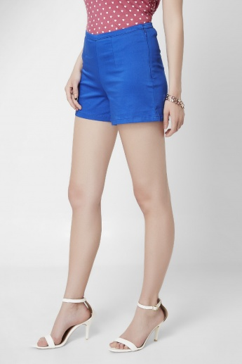 GINGER High Waist Solid Shorts