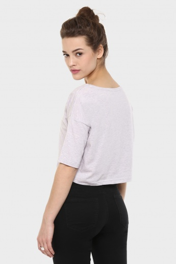 GINGER Drop Sleeves Boxy Crop Top