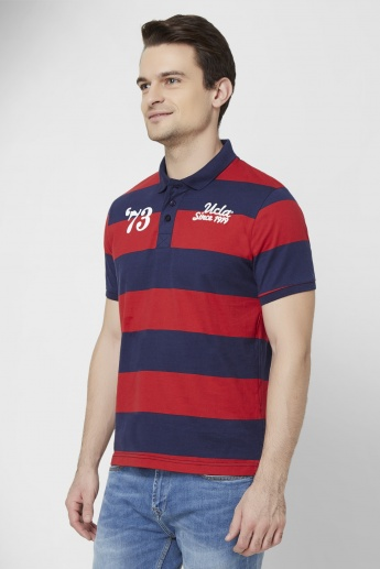 UCLA Striped Polo Neck T-Shirt