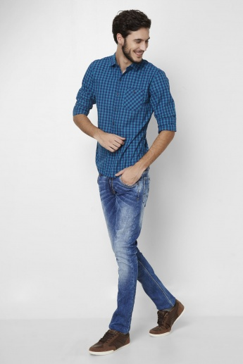 FORCA Gingham Checks Casual Shirt