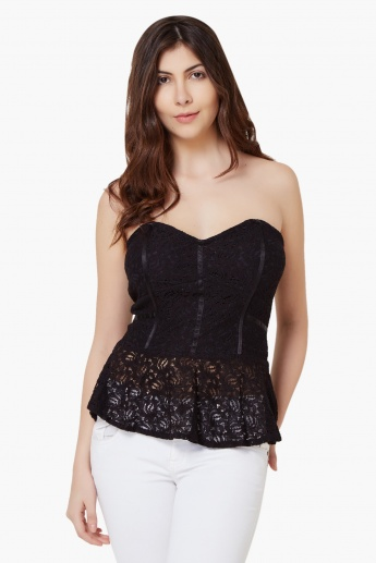 GINGER Lacy Corset Top