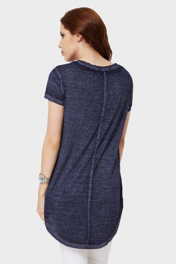 GINGER V-Neck High-Low Hem Top