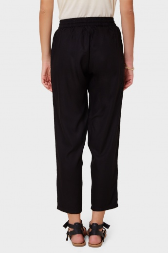GINGER Embroidered Side Panel Pants